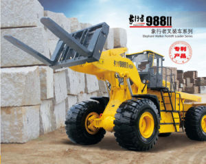 Marble Granite Block Handler Mgm988II 36t Forklift Wheel Loader