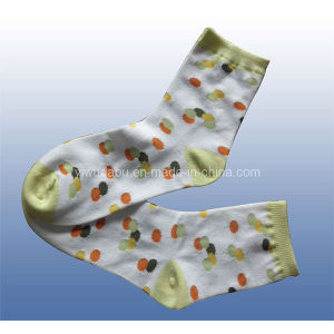 Fashionable DOT Cotton Socks for Women