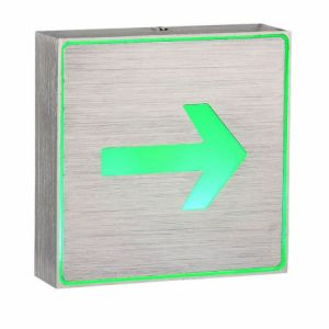 Pure Aluminium Housing Body LED Exit Lamps with Arrow Sign pictures & photos