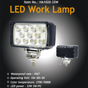 33W LED Flood Light for Offroad, TV, Caravans LED Work Lamp with Waterproof pictures & photos