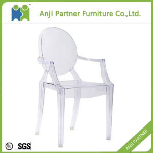 Dark Black Connected Polycarbonate Plastic Dining Chair (Melor) pictures & photos