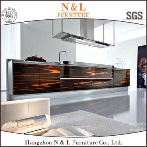 Customized Matt Wood Veneer Modern Kitchen Cabinet pictures & photos
