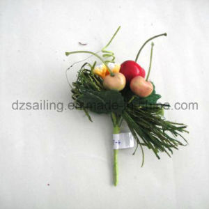 Fruit Pick Artificial Flower for Gift Packing and Corsage (SFH1018-4)