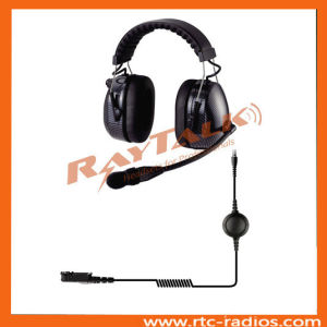 Tactical Heavy-Duty Headset with Over-The Head Headband for Two Way Radios pictures & photos
