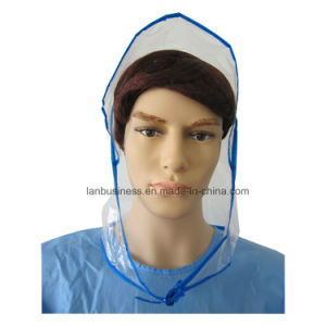 PE Rain Bonnet with Blue Package Edge pictures & photos