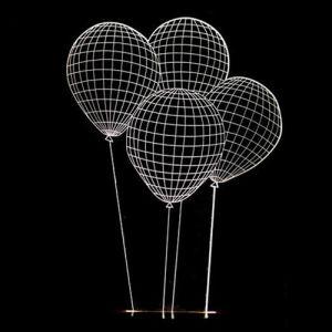 Kids Room Balloon Sculptured Decorative Desk LED Visual 3D Night Light