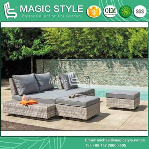 Combination Sofa Garden Sofa Modern Sofa Outdoor Sofa Rattan Furniture Wicker Furniture Patio Sofa Leisure Lounge Hotel Project Daybed (Magic Style) pictures & photos