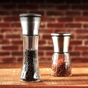 Hot Sell Hand-Operated 3PCS 100-500ml Pepper Mill Spice Pepper Grinder for Kitchenware pictures & photos