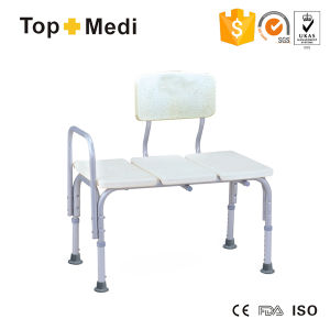 Topmedi Medical Equipment Height-Adjustable Aluminum Shower Chair pictures & photos