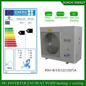 12kw/19kw/35kw/70kw/105kw Floor/Radiator House Heating in -25c Winter Auto-Defrost Air Source Heat Pump Monoblock Inverter Evi pictures & photos