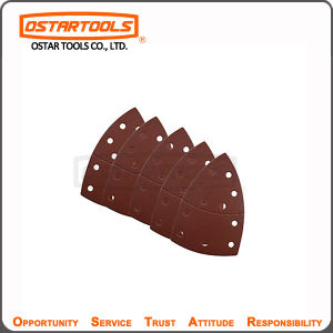 Shanghai Ostartools 80 Grit Velco Sandpaper Sheet with Hole pictures & photos