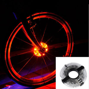 Bike Cycling Hubs Lights Front/Rear Bicycle Light Spoke Decoration Warning LED Wheel Lamp Waterproof Bike Accessories pictures & photos
