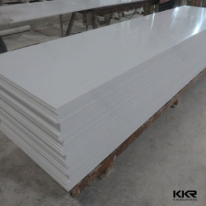 Building Material Artificial Stone Wall Panel 6mm White Solid Surface (170821) pictures & photos