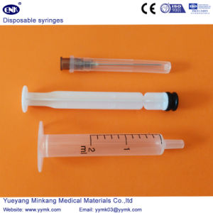 Disposable Sterile Syringe with Needle 2ml (ENK-DS-065) pictures & photos