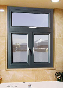 Grey Color Aluminium Opening Window for Villa pictures & photos