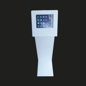 Curved Metallic iPad Display Stand with Locker Enclosured pictures & photos