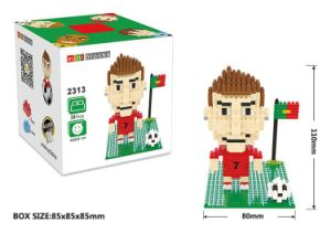 10172313-Football Star Figure Shape ABS Building Block Educational Decoration Toy for Spatial Thinking pictures & photos