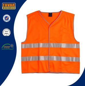 100% Polyester Hi Vis Reflective Tape Safety Vest pictures & photos