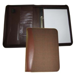 Zip A4 PU Leather Filing Folders with 2 Ring Binder pictures & photos