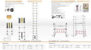 Multifunctional Telescopic Scaffold Ladder pictures & photos