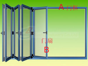 Aluminium Folding Glass Door pictures & photos