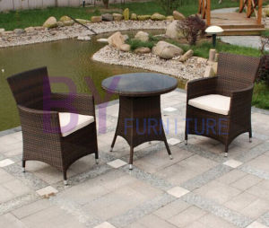 Outdoor Mixed Brown Rattan Furniture 3-Piece Wicker Garden Set pictures & photos