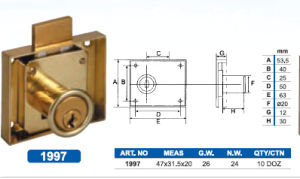 High Quality Zinc Alloy Furniture Drawer Lock pictures & photos
