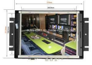 "12.1"" LCD Metal Housing Monitor with 4-Wire Resistive Touch Panel pictures & photos"