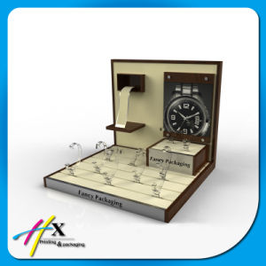 Wholesale Custom Wood Acrylic Display Watch Counter Display Set pictures & photos