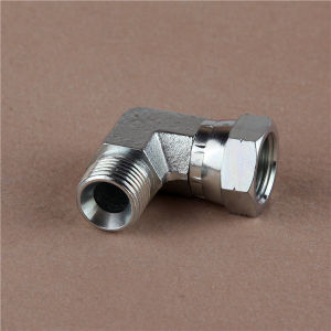 Carbon Steel 90oelbow Bsp Male 60o Seat/Bsp Female 60ocone Hydraulic Hose Fitting pictures & photos
