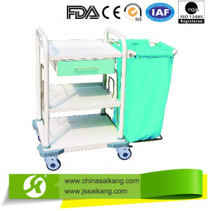 ABS Laundry Collecting Trolley with Casters pictures & photos