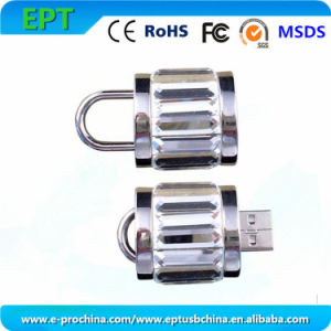 Hot Sale Golden Lock USB Flash Disks, Padlock USB Flash Drive (EM-066) pictures & photos