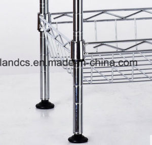 NSF Approval 4 Tiers Chrome Mesh Kitchen Basket Rack pictures & photos