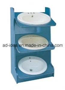 Three Tiers Mtetal Display Cabinet/ Display for Wash Basins Presentation pictures & photos