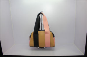 High Quality New European Style Design PU Lady Bowling Handbag pictures & photos