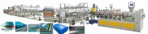 PC Plastic Hollow Sheet Extrusion/Extruder Line/Machine pictures & photos