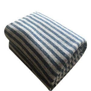 100% Polyester Cationic Fabric Stripe Jacquard and Sherpa Blanket pictures & photos