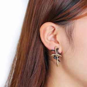 Black and Gold Color 18K Gold Jewelleryfashion Earring pictures & photos