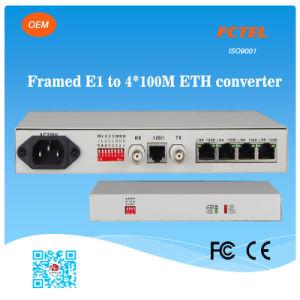 Mini Type Framed E1 to 4fe Converter Network Bridge