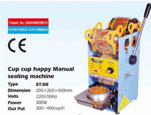 Eton Manual Cup Sealer for Bubble Tea with Indonesia Cup Size Et-D8 pictures & photos