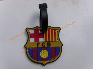 Rubber Luggage Tag, Soft PVC Luggage Tag, Fashion Football Club Luggage Drop