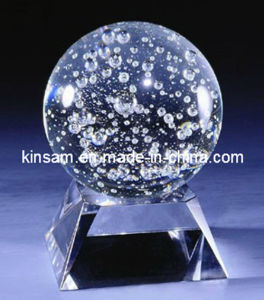 150mm Crystal Glass Ball with Base pictures & photos