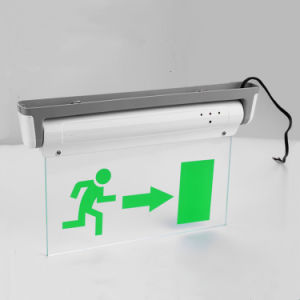 with Lead-Acid Battery Exit Sign Running Man pictures & photos