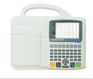 Ce Approved Digital Touch Screen Three Channel Electrocardiograph ECG Machine pictures & photos