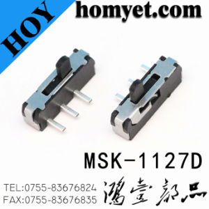 High Quality 3pin DIP Slide Switch /Side Push Two-Position Toggle Switch (MSK-1127D) pictures & photos