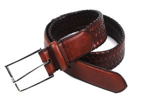 New Fashion Men Top Leather Woven Belt (KB-1505007)