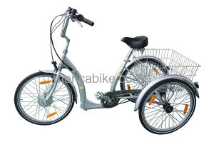 2017 High Quality Electric Trike E Tricycle Cargo Good Tool for The Olds Shopping Shimano Parts pictures & photos