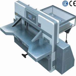 Touch Screen Double Worm Wheel Paper Cutting Machine (SQZK1370DH) pictures & photos
