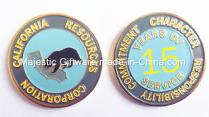 Soft Enamel Gold Plating Customized Year Coin pictures & photos