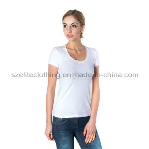 Women Comfortable Blank White T-Shirts (ELTWTJ-132) pictures & photos